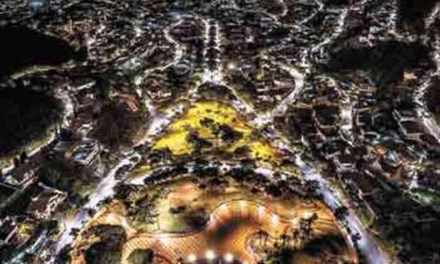 Praça do Papa, vista do céu e com as ruas vazias, inspira Nereu Júnior